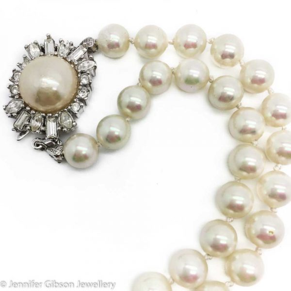Vintage Christian Dior Pearl Necklace