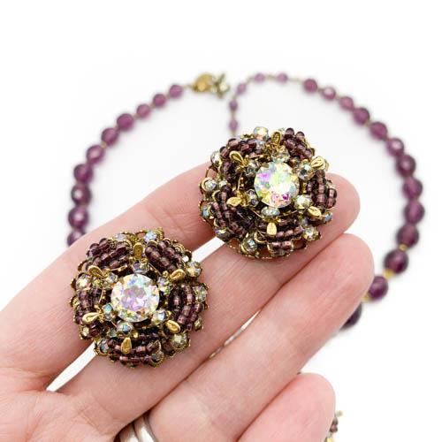 Vintage Miriam Haskell Necklace Earrings Jennfier Gibson Jewellery