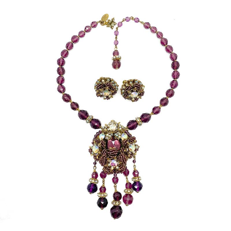 Vintage Miriam Haskell Necklace Earrings Jennifer Gibson Jewellery