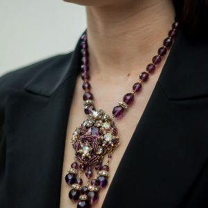 Jennifer Gibson Jewellery Miriam Haskell Vintage Necklace Grape Vine