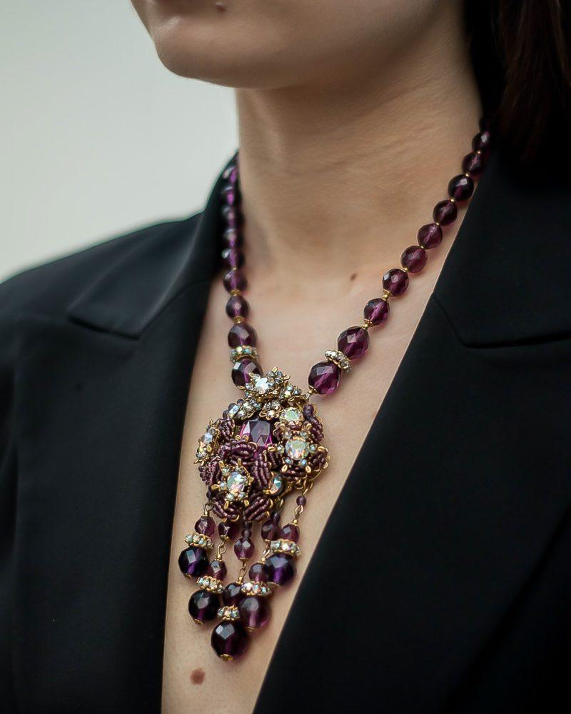 Jennifer Gibson Jewellery Miriam Haskell Vintage Necklace Grape Vine