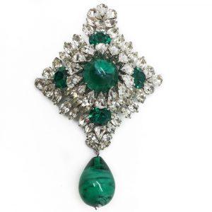 Vintage Dior Brooch Stomacher Style Rare and Impressive 1960 Marwc Bohan