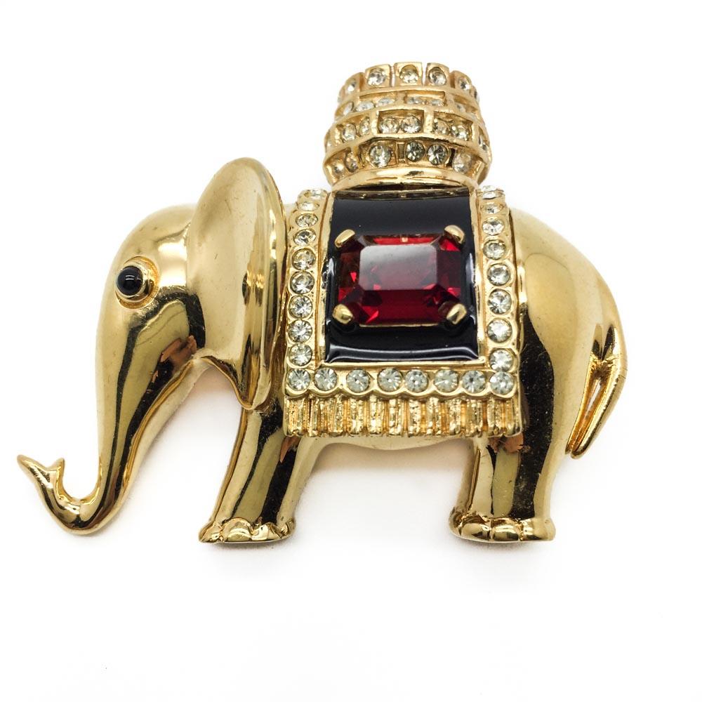 Vintage Ciner Elephant | Vintage Costume Jewellery