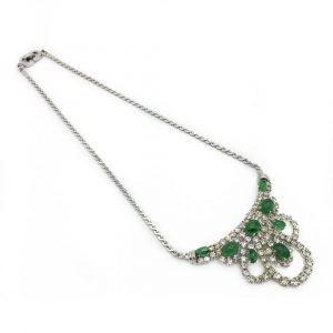 Vintage Christian Dior Necklace Green Cocktail Necklace