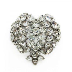 Vintage Christian Dior Crystal Heart