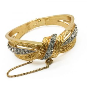 Trifari bangle Fashion Jewellery Vintage Jewellery Vintage Bracelet VIntage Costume Jewellery Vintage for Sale Jennifer Gibson Jewellery