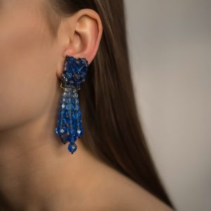 Vintage Coppola e Toppo Blue Cascade Earrings Jennifer Gibson Jewellery