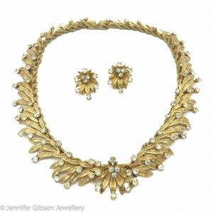 Vintage DIOR Necklace Earrings 1966