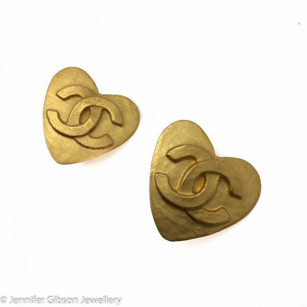 Chanel Earrings Vintage Hearts 1995 | vintage Costume Jewellery