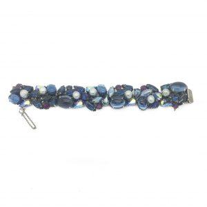 Kramer NYC Vintage 1950s Blue Hue Bracelet