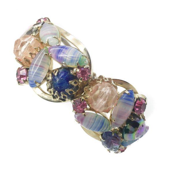 1950s Art Glass Clamper Bangle