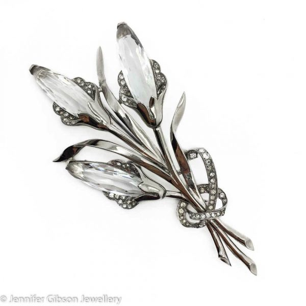 Vintage Costume Jewellery | MAZER 1950s Lily Brooch