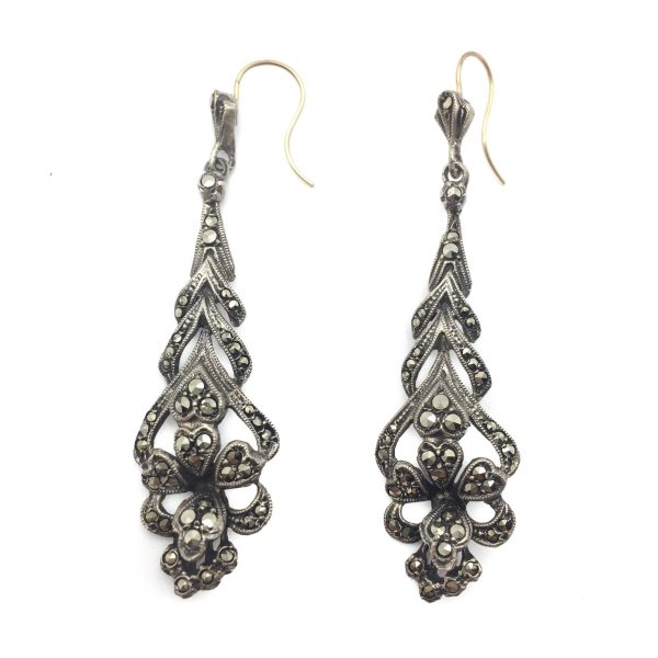 1920s Silver and Marcasite Earrings