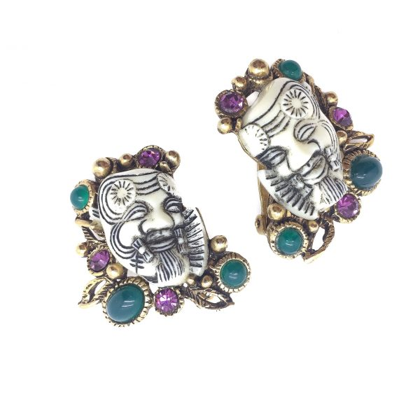 SELRO Earrings Vintage Earrings Vintage Costume Jewellery
