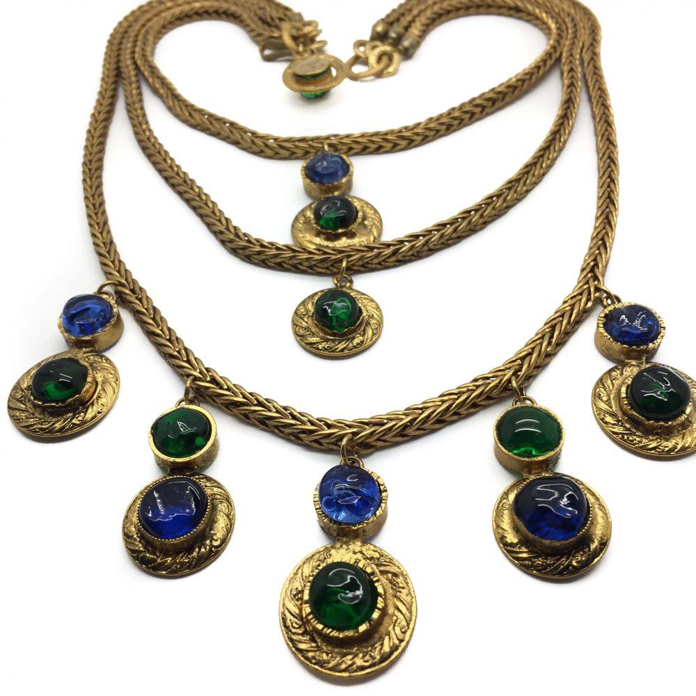 Vintage CHANEL 1970s Gripoix Necklace