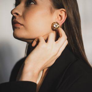 Vintage Chanel Crystal Earrings