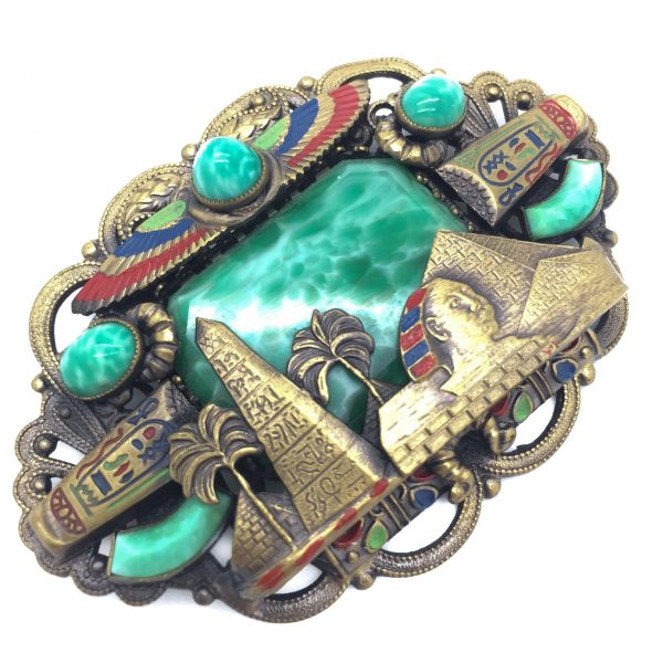 Neiger Brothers Egyptian Revival 1920s Large Brooch