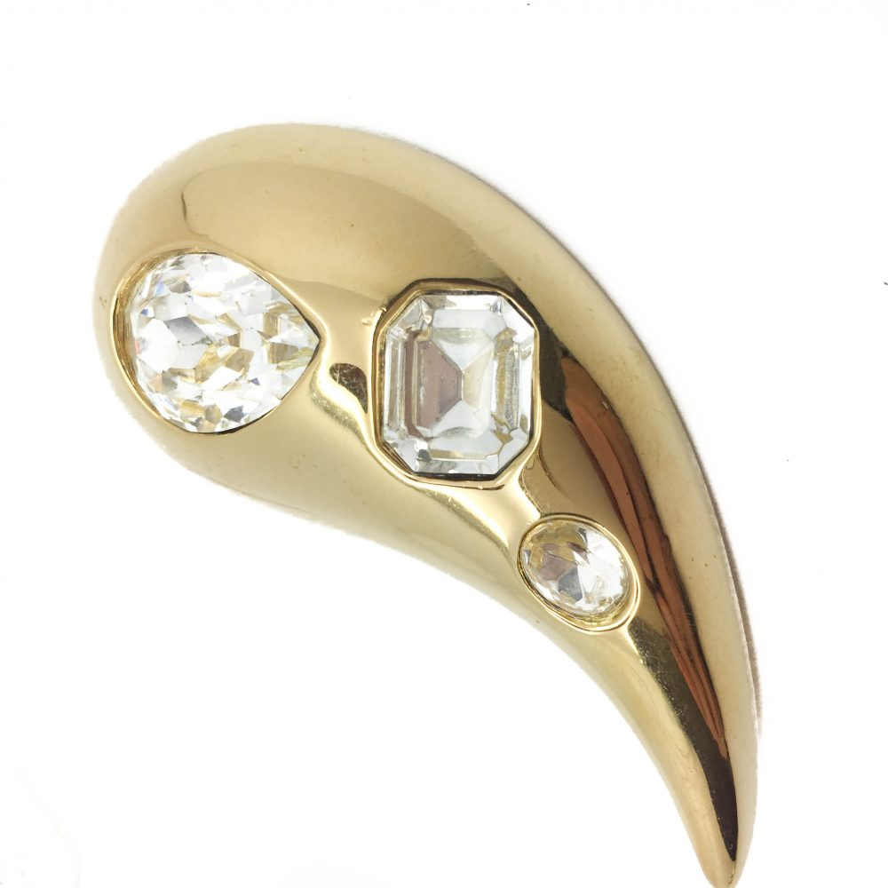 Givenchy Vintage Brooch with Crystals