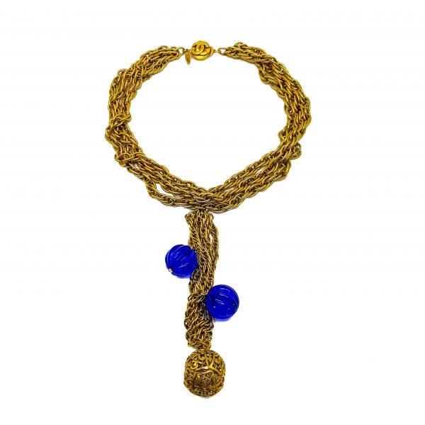 Vintage Chanel Ball Sautoir Necklace 1984
