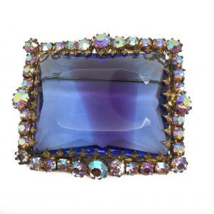1950s Brooch Art Glass Aurora Borealis