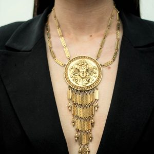 Jennifer Gibson Jewellery Vintage Jewellery Goldette Necklace