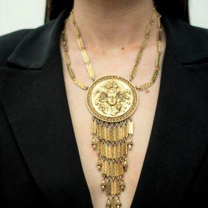 Jennifer Gibson Jewellery Vintage Jewellery Goldette Necklace