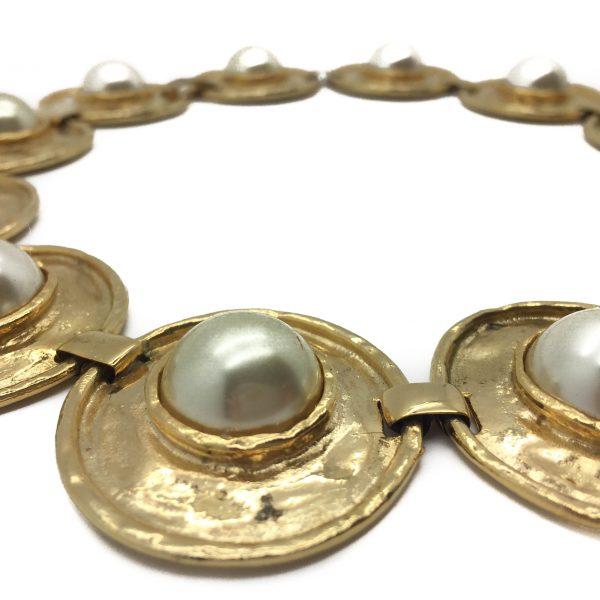Vintage Costume Jewellery _Vintage Gilt Pearl Necklace_jennifer gibson jewellery