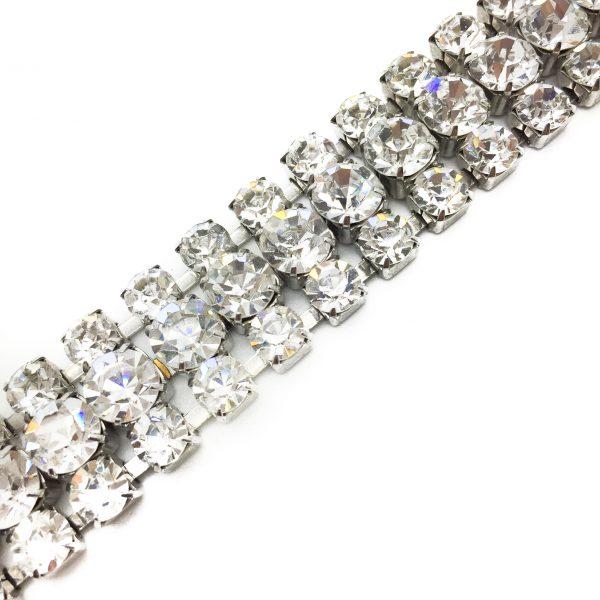 Vintage Costume Jewellery _Jennifer Gibson Jewellery_Vintage Rhinestone Bracelet