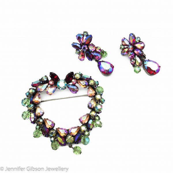 VENDOME Heart Set Vintage Costume Jewellery