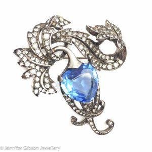 Vintage Costume Jewellery Boucher Heart Brooch Phrygian Cap Mark Jennifer Gibson Jewellery