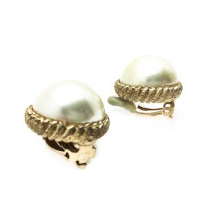CINER Pearl 1980s Mabe Earring Vintage Costume Jewellery