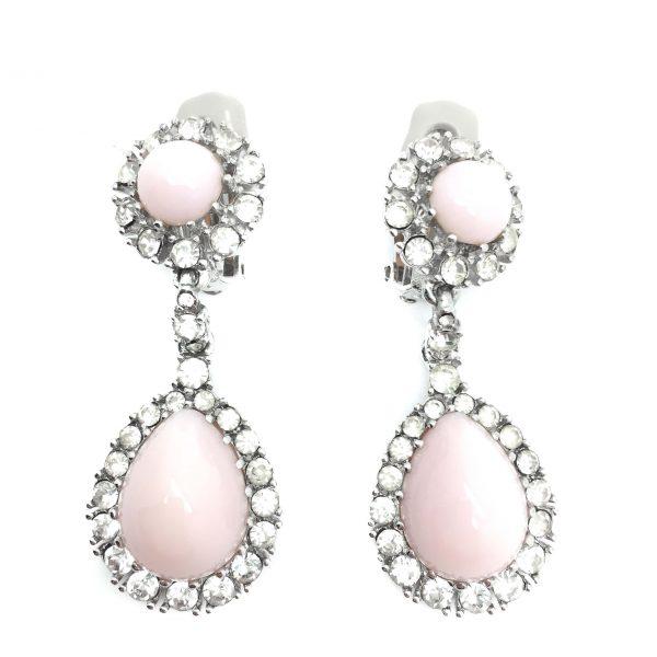 Vintage Ciner Earrings Pink Costume Jewellery