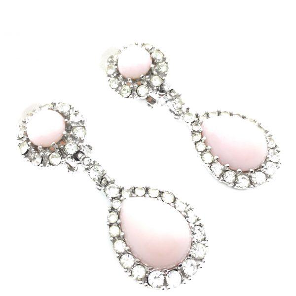 Vintage Ciner Pink Earrings Costume Jewellery