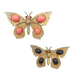 Vintage Butterfly Brooch Costume Jewellery