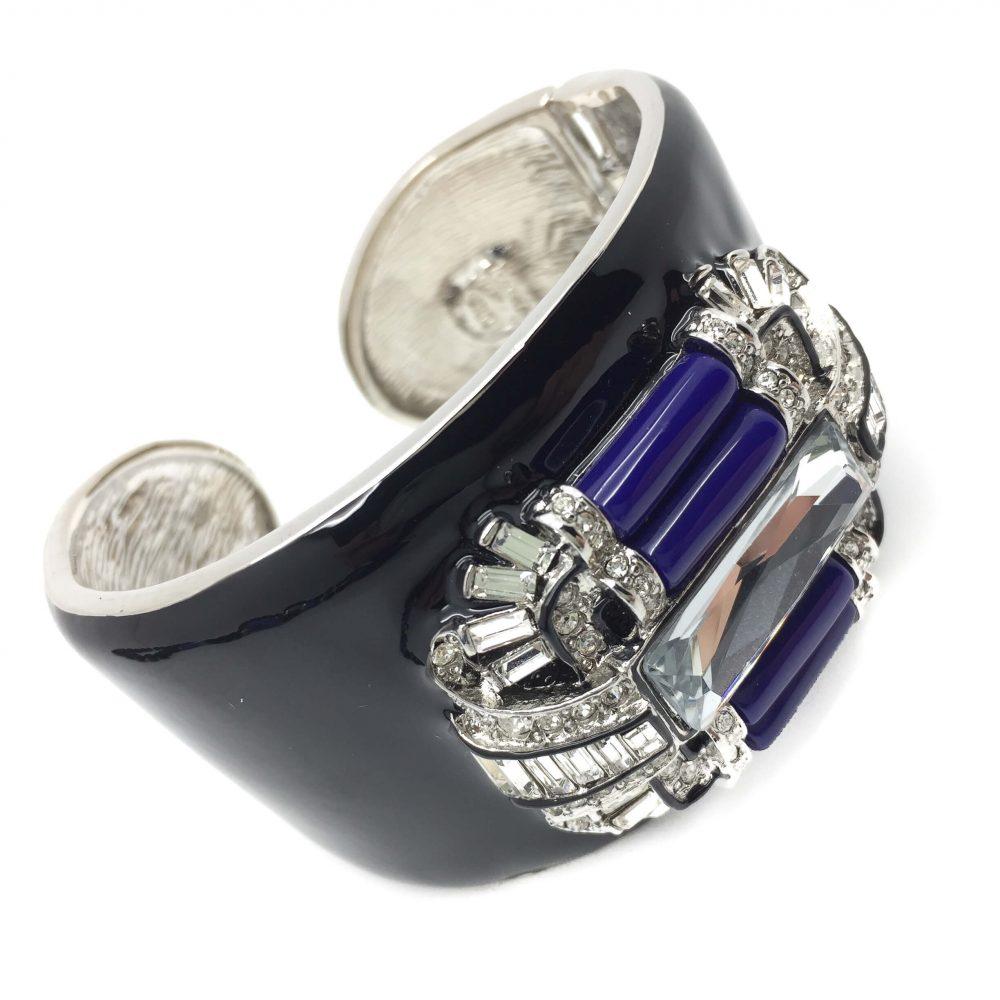 KJL Art Deco Suite Kenneth Jay Lane Vintage Costume Jewellery Necklcae Ring Bracelet 1990s