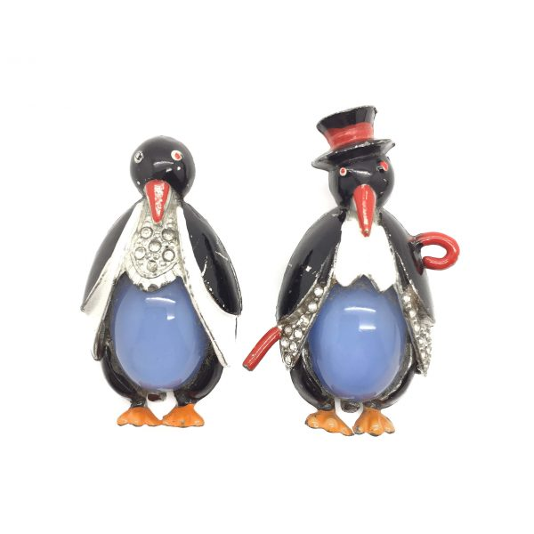 Vintage Penguin 1930s Coro VIntage Costume Jewellery Vintage Brooch