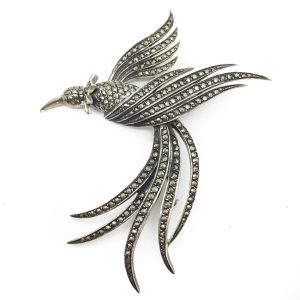 Silver Bird Brooch Vintage Costume Jewellery Vintage Brooch