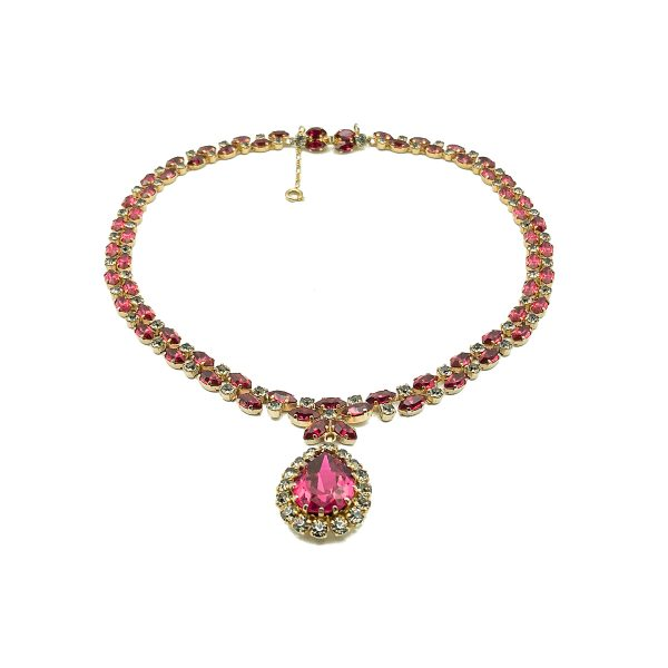 Vintage Austrian Ruby Necklace