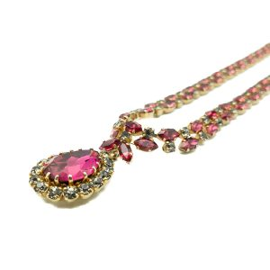 Vintage Austrian Ruby Necklace