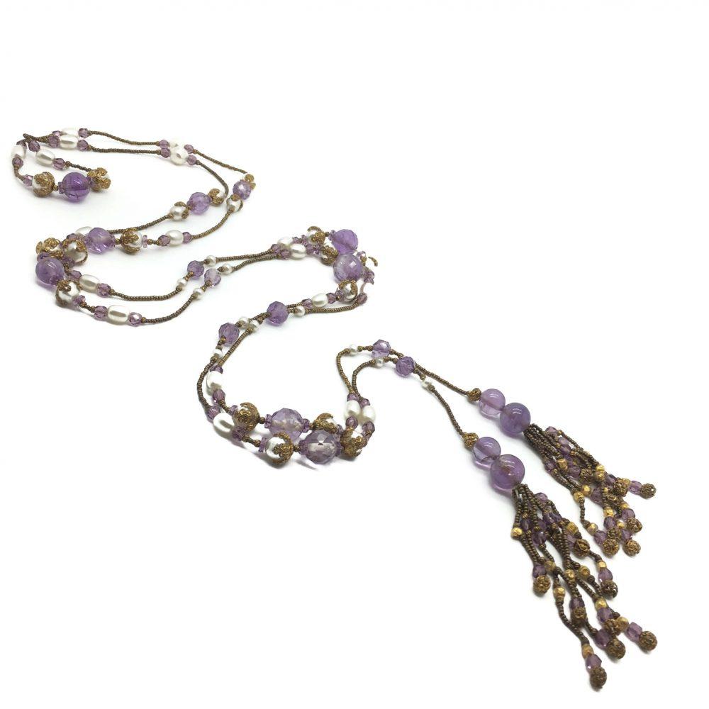 Amethyst Sautoir Necklace, Antique necklace, Amethyst, Vintage Costume Jewellery, Vintage Jewellery, Vintage Necklace, Vintage Jewelry, Jewellery Shop, Costume Jewellery, Vintage Costume Jewellery