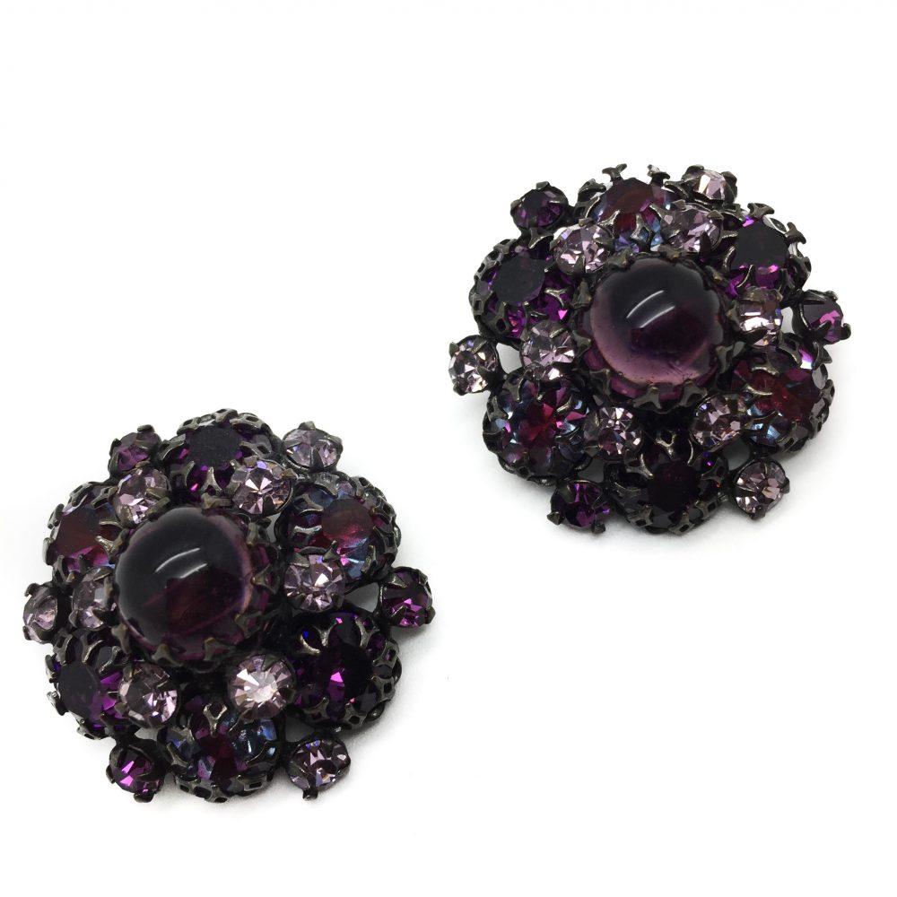 Purple Schreiner Earrings