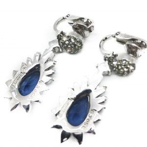blue boucher earrings