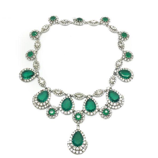 Ciner Vintage Emerald Necklace