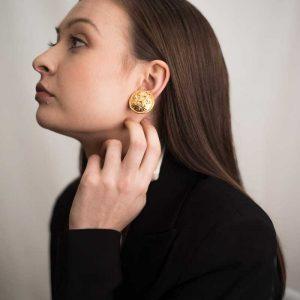 Vintage Chanel Earrings Lion Coco Chanel Jennifer Gibson Jewellery
