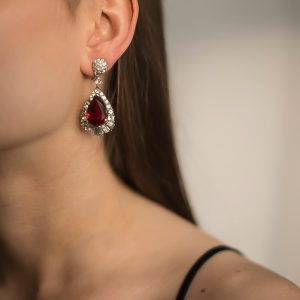 Vintage Marcel Boucher Ruby Earrings Jennifer Gibson Jewellery