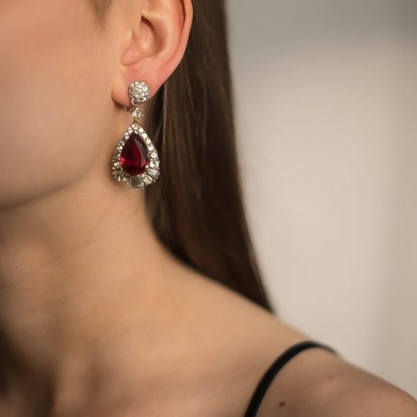 Vintage Marcel Boucher Ruby Earrings Jennifer Gibson Jewellery