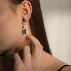 Vintage Panetta Sapphire Earrings Jennifer Gibson Jewellery