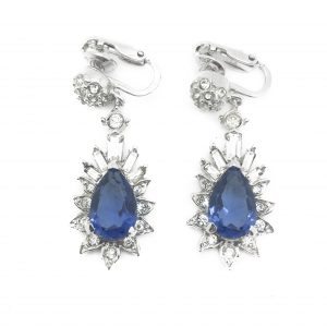 blue boucher earrings