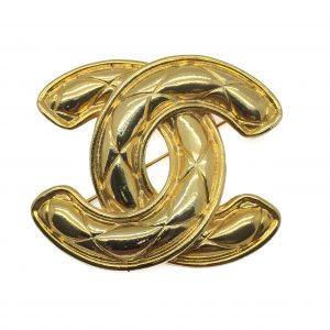 Chanel CC Logo Brooch 1980s