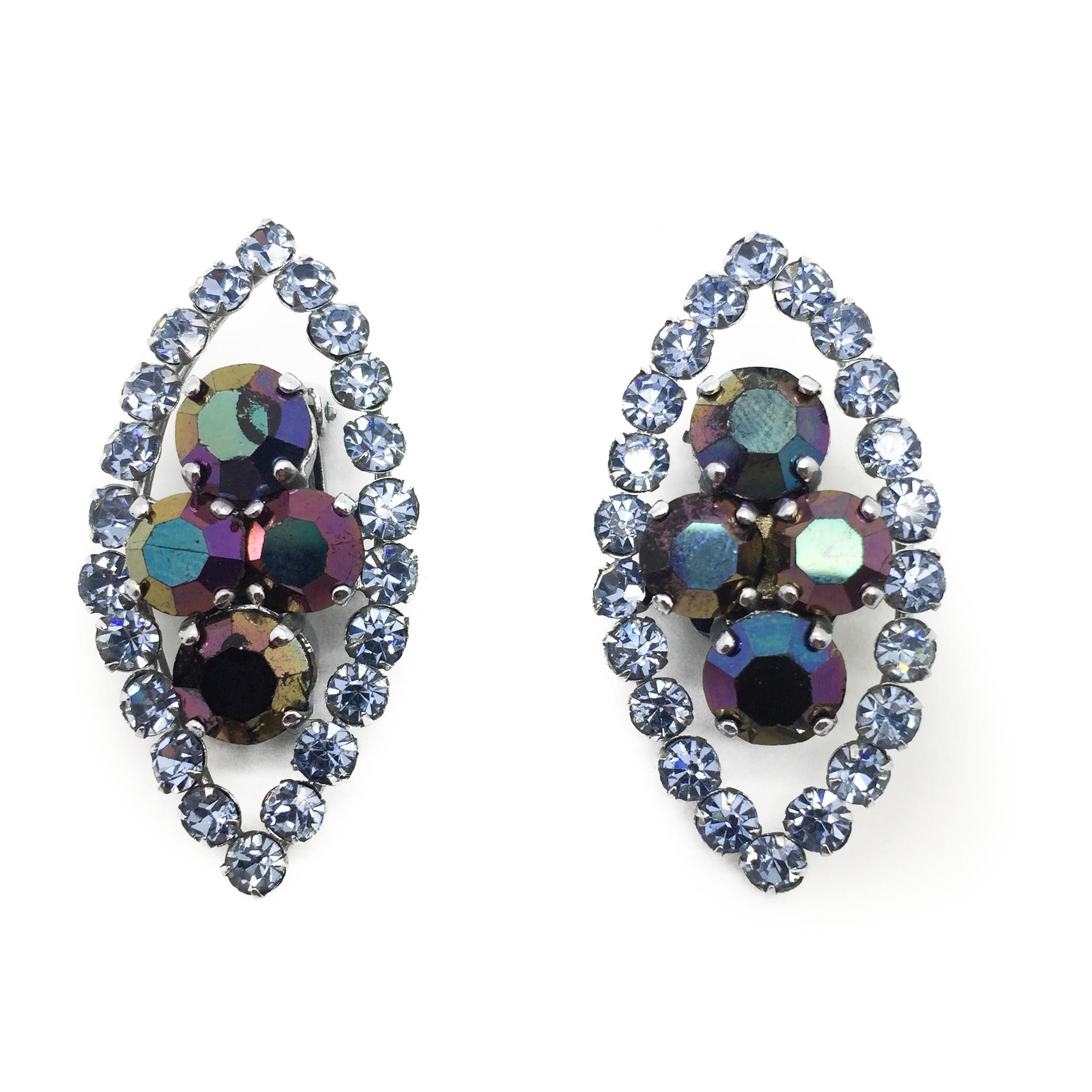 Dior 1950s Earrings, vintage dior, dior earrings, christian dior earrings, francesca cumani aintree